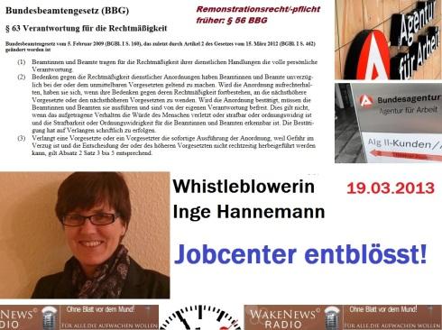 Inge Hannemann - Jobcenter entblösst