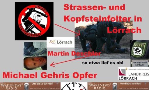 Strassen- und Kopfsteinfolter in Lörrach