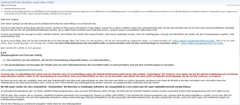 Screenshot Email van den Berg p1