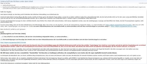 Screenshot Email van den Berg p1