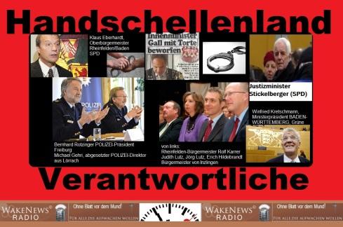 Handschellenland-Verantwortliche