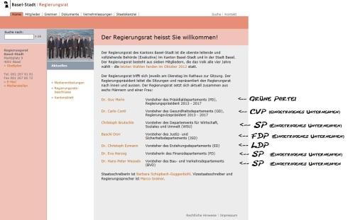 Regierungsrat Basel-Stadt eine Firma