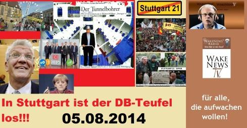 In Stuttgart ist der DB-Teufel los