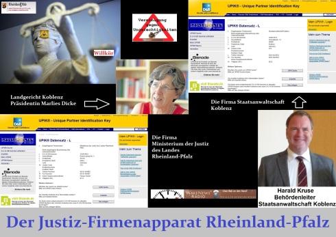 Der Justiz-Firmenapparat Rheinland-Pfalz