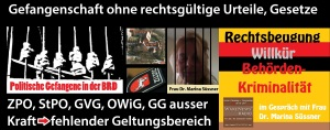 Frau Dr. Marina Süssner in politischer Haft