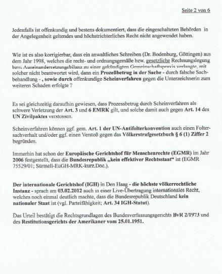 Strafantrag Dr. Marina Süssner gegen KZVN p2