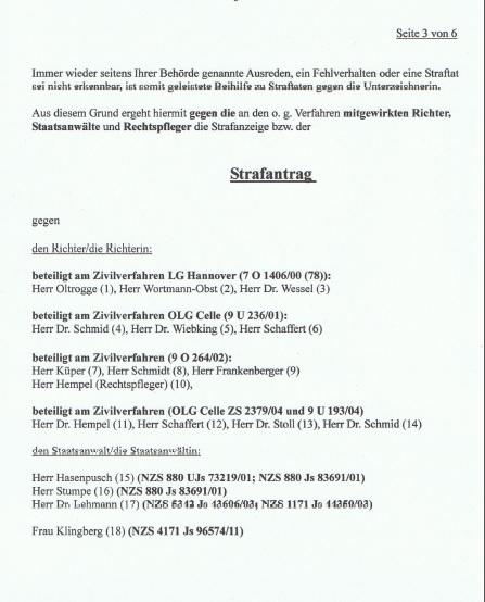 Strafantrag Dr. Marina Süssner gegen KZVN p3