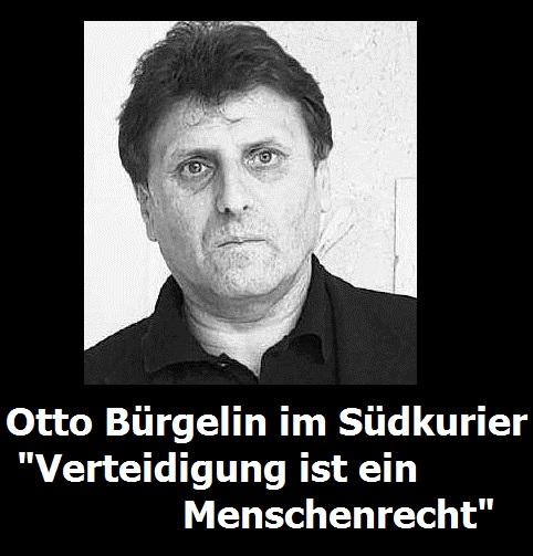 Otto Bürgelin Verteidigung ist ein Menschenrecht