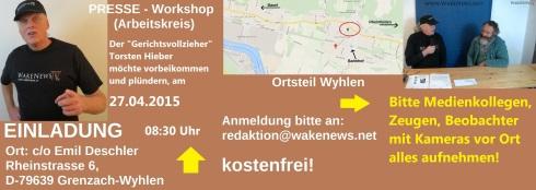 Plünderungsabsicht Torsten Hieber am 27.04.2015