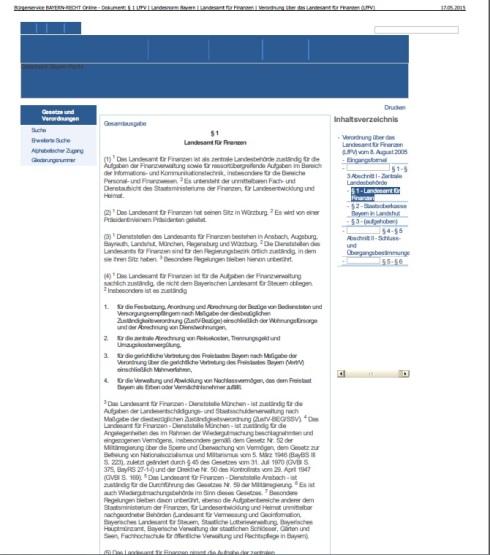 Landesamt für Finanzen Freistaat Bayern unter Alliiertenbefehlen und Besatzerrecht