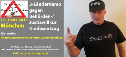3-Länder-Demo VUG 17.-19. Juli 2015 in München