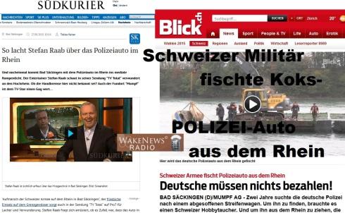 Collage Raab lacht über Koks-POLIZEI-Auto-Rhein