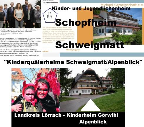 Kinderquälerheime Schweigmatt u. Alpenblick