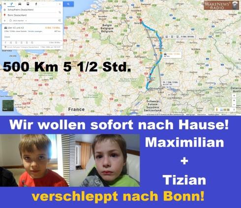 Verschleppt nach Bonn - Maximilian + Tizian wollen heim
