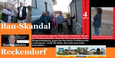 Bauskandal in Reckendorf - 4-Meter Mauer-Ungetüm