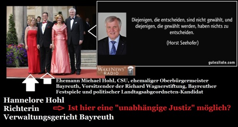 Hannelore Hohl - Richterin am Verwaltungsgericht Bayreuth
