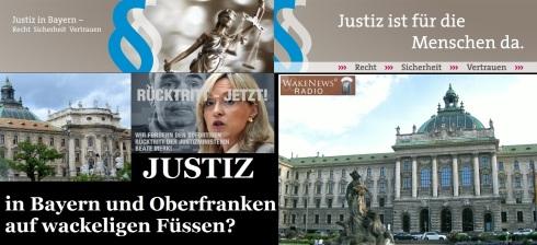 JUSTIZ in Bayern und Oberfranken auf wackeligen Füssen