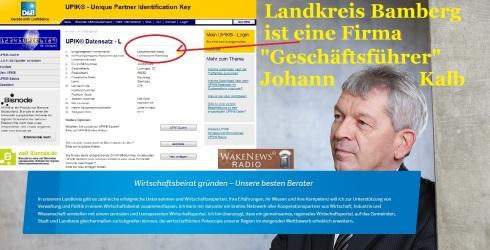Landkreis Bamberg ist eine Firma, Johannes Kalb Geschäftsführer