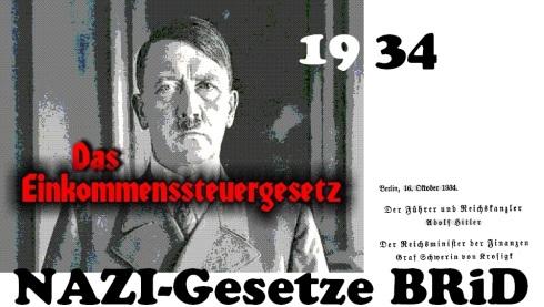 Nazigesetz Einkommensteuergesetz 1934