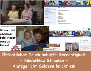 Öffentlicher Druck schafft Gerechtigkeit - Kinderklau Straelen - Amtsgericht Geldern knickt ein