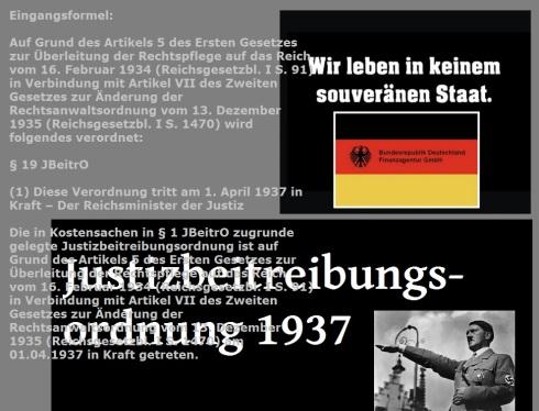 JBeitrO - Reichsjustizminister 1937