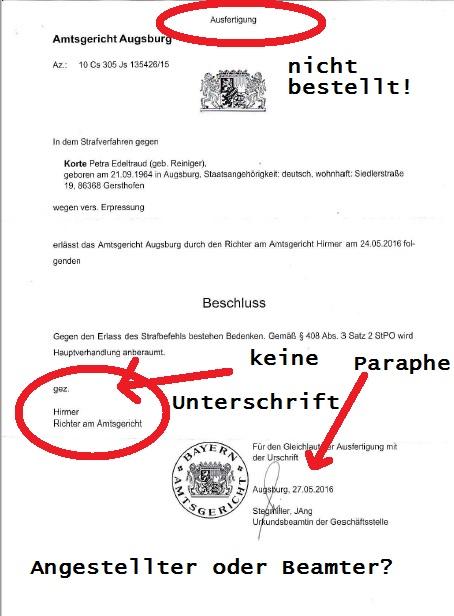 Ladung AG Augsburg 24.10.2016 Jürgen Brötsch p4 mark.