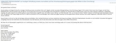 Presseanfrage STAATSANWALTSCHAFT LÖ 20160726