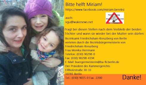 Unterstützung für Miriam