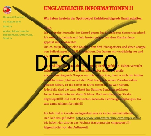 Desinfo Sonnenstaatland-Bande